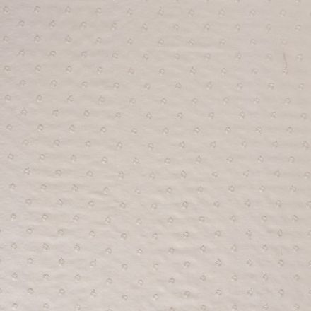 Tissu Plumetis Viscose lin  pois brodés sur fond Ecru - Par 10 cm