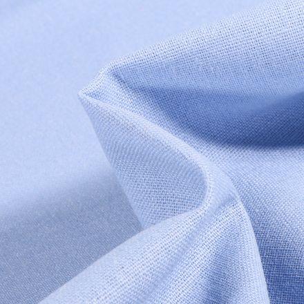 Tissu Viscose Lin uni Bleu layette