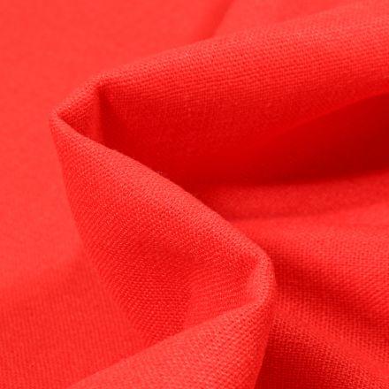 Tissu Viscose Lin uni Rouge