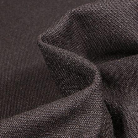 Tissu Viscose Lin uni Noir