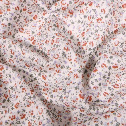 Tissu Viscose Twill Déborah gris sur fond Blanc - Par 10 cm
