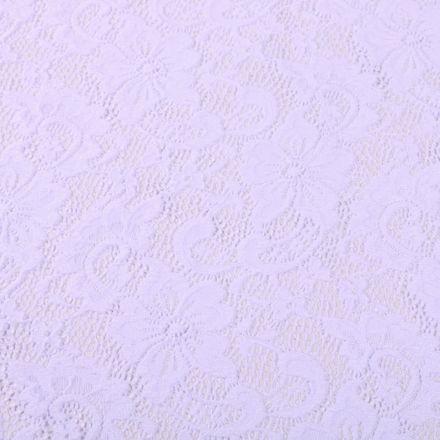 Tissu Dentelle Laura Blanc - Par 10 cm
