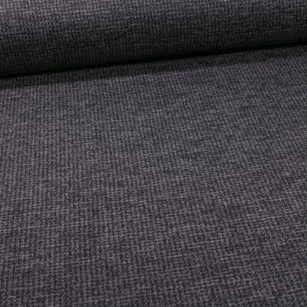 Tissu Maille Julia Pied de poule sur fond Bleu marine - Par 10 cm