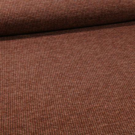 Tissu Maille Julia Pied de poule sur fond Brique - Par 10 cm