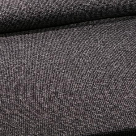 Tissu Maille Julia Pied de poule sur fond Gris foncé - Par 10 cm