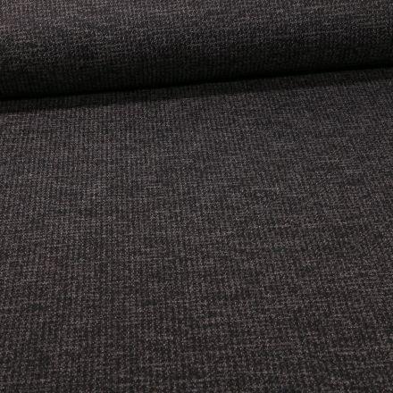 Tissu Maille Julia Pied de poule sur fond Noir - Par 10 cm