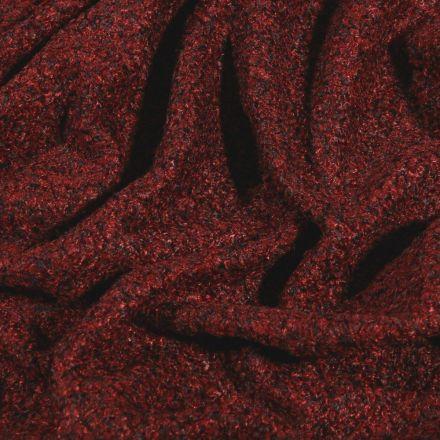 Tissu Lainage petites bouclettes Bordeaux - Par 10 cm