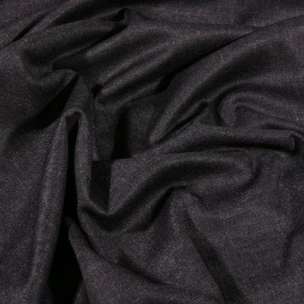 Tissu Jersey Milano Déperlant uni Noir - Par 10 cm