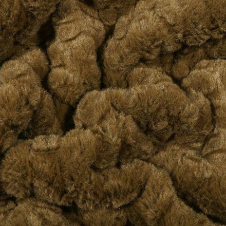 Tissu Fausse fourrure Pétales sur fond Vert kaki - Par 10 cm