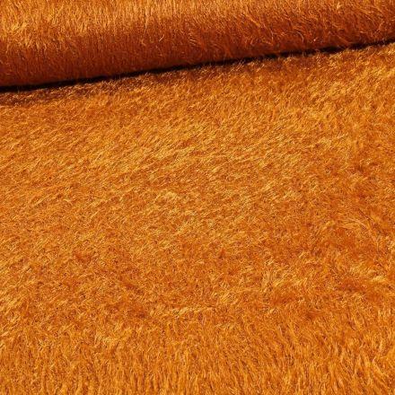 Tissu Fausse fourrure long poils Gloria Ocre - Par 10 cm