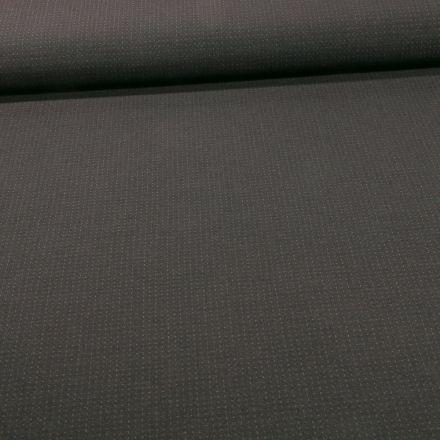 Tissu Bengaline Petits points verts foncés sur fond Noir - Par 10 cm