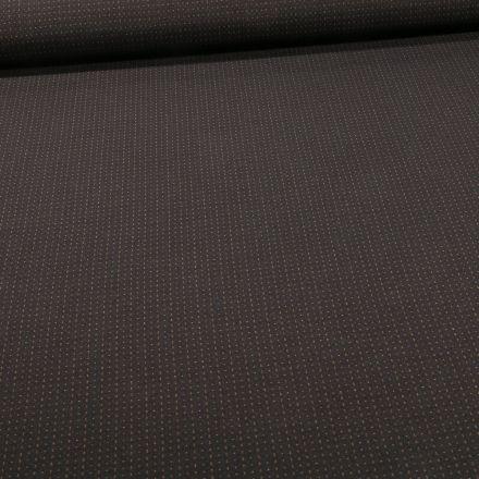 Tissu Bengaline Petits points ocre sur fond Noir - Par 10 cm
