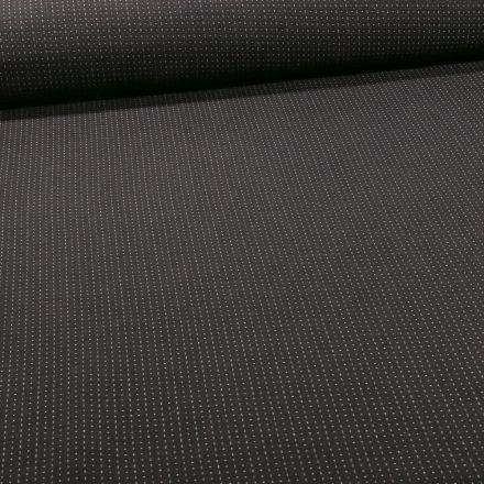 Tissu Bengaline Petits points blanc sur fond Noir - Par 10 cm