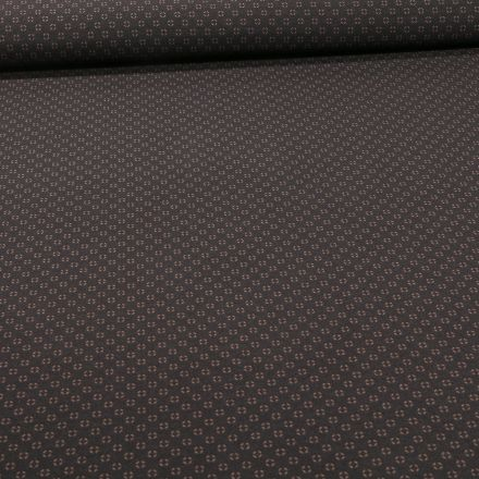 Tissu Bengaline Mini losanges taupes sur fond Noir - Par 10 cm