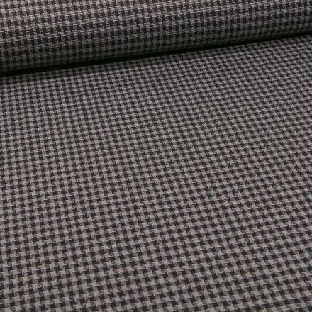 Tissu Maille carreaux sur fond Gris - Par 10 cm