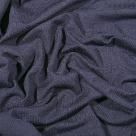 Tissu Jersey Bambou uni Bleu marine - Par 10 cm
