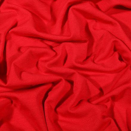 Tissu Jersey Bambou uni Rouge - Par 10 cm