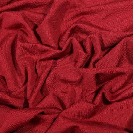 Tissu Jersey Bambou uni Bordeaux - Par 10 cm