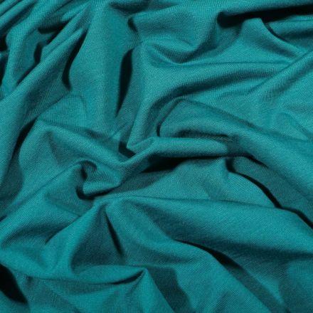 Tissu Jersey Bambou uni Bleu pétrole - Par 10 cm