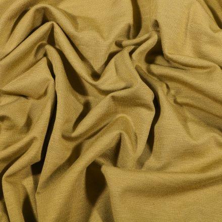 Tissu Jersey Bambou uni Vert kaki clair - Par 10 cm