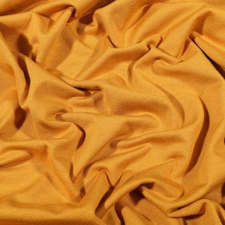 Tissu Jersey Bambou uni Ocre - Par 10 cm