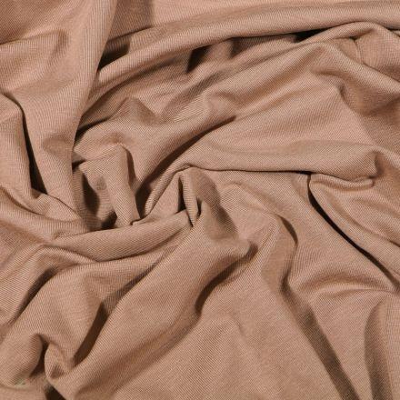 Tissu Jersey Bambou uni Camel - Par 10 cm