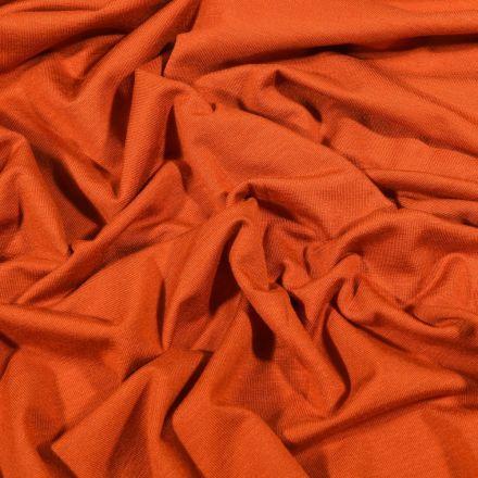 Tissu Jersey Bambou uni Brique - Par 10 cm