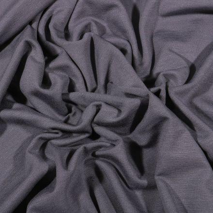 Tissu Jersey Bambou uni Gris anthracite - Par 10 cm