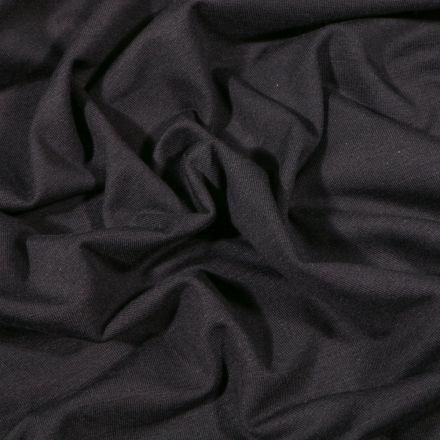 Tissu Jersey Bambou uni Noir - Par 10 cm