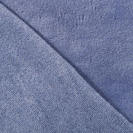 Tissu Micro Éponge Bambou Bleu denim - Par 10 cm