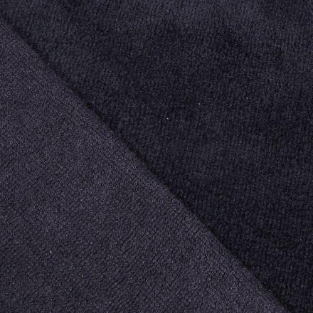 Tissu Micro Éponge Bambou Bleu marine - Par 10 cm