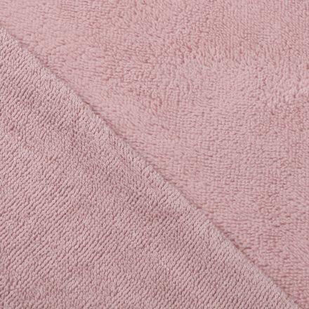Tissu Micro Éponge Bambou Rose pastel - Par 10 cm