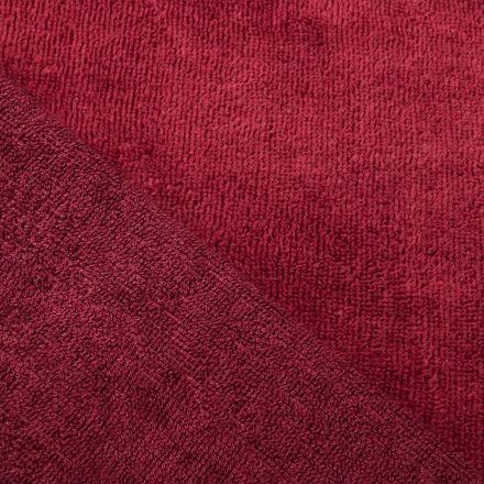 Tissu Micro Éponge Bambou Grenat - Par 10 cm