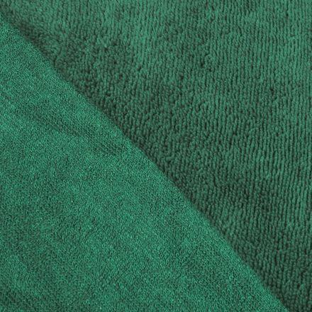 Tissu Micro Éponge Bambou Vert épicéa - Par 10 cm