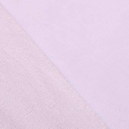Tissu Micro Éponge Bambou Blanc pur - Par 10 cm