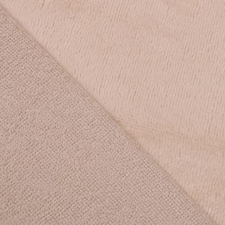 Tissu Micro Éponge Bambou Beige clair - Par 10 cm