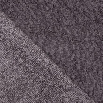 Tissu Micro Éponge Bambou Gris foncé - Par 10 cm
