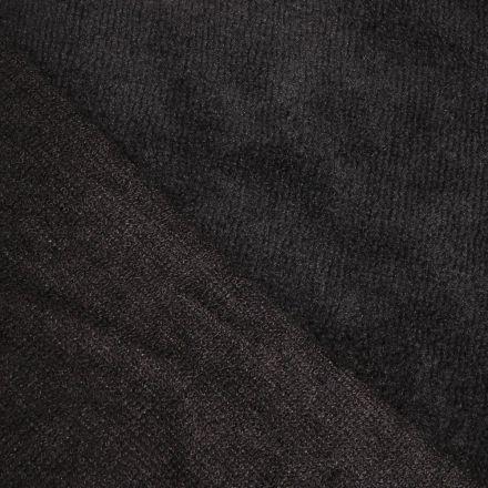 Tissu Micro Éponge Bambou Noir ébène - Par 10 cm