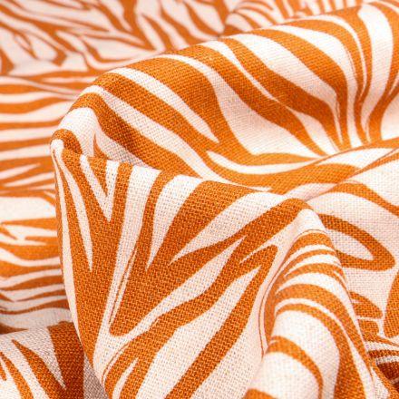 Tissu Lin Viscose Indy orange sur fond Naturel