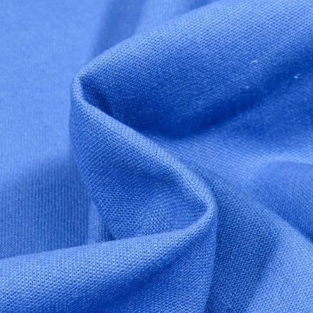 Tissu Coton Lin uni Bleu roi
