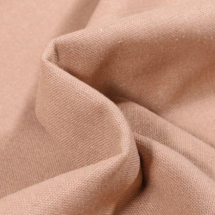Tissu Coton Lin uni Beige