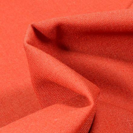 Tissu Coton Lin uni Orange