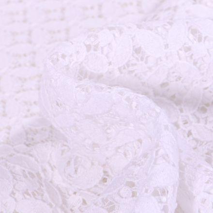 Tissu Dentelle Carla Blanc