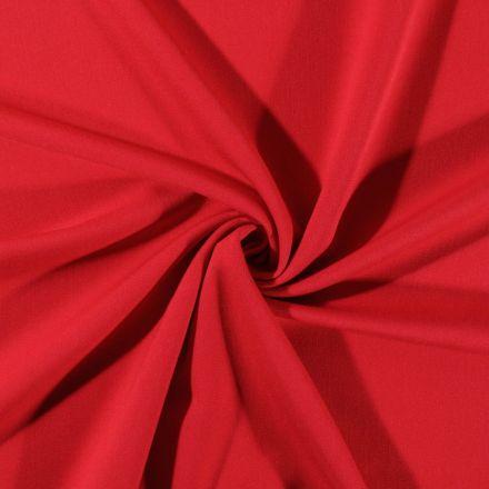 Tissu Gabardine de viscose uni Rouge - Par 10 cm