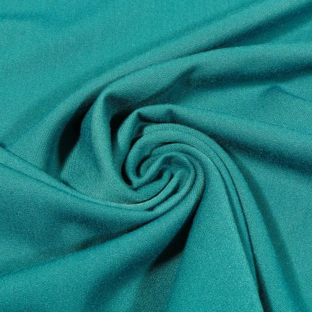 Tissu Gabardine de viscose uni Vert canard