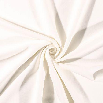 Tissu Gabardine de viscose uni Ecru - Par 10 cm