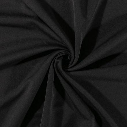 Tissu Gabardine de viscose uni Noir - Par 10 cm