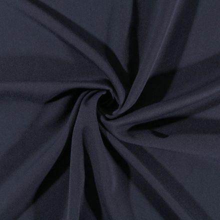 Tissu Gabardine de viscose uni Bleu marine  - Par 10 cm