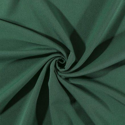 Tissu Gabardine de viscose uni Vert sapin - Par 10 cm