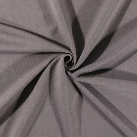Tissu Gabardine de viscose uni Gris Pierre - Par 10 cm